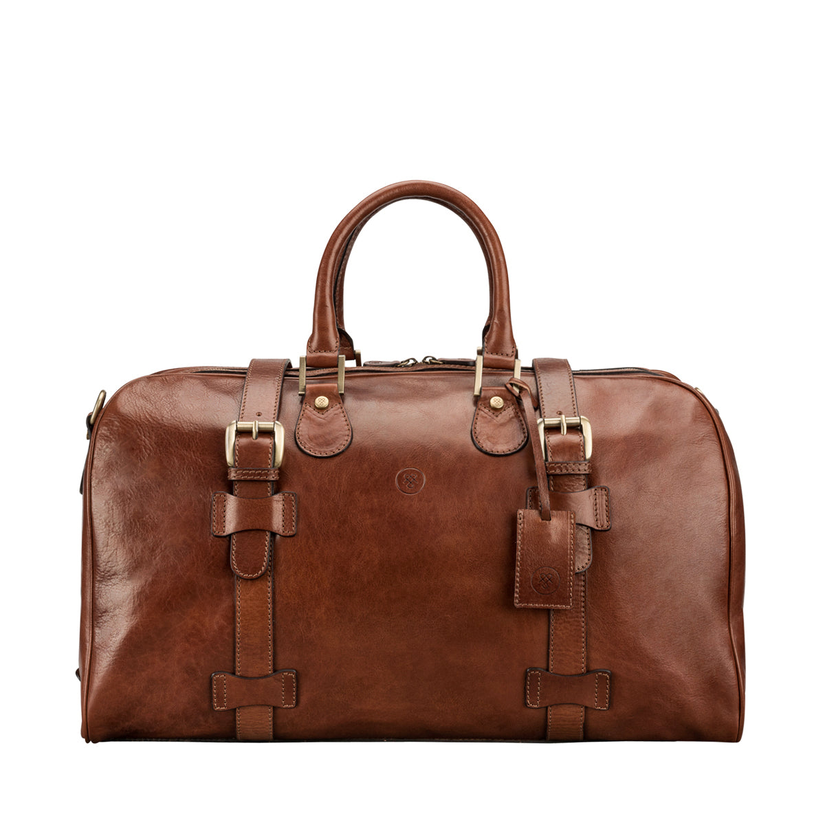 Image 1 of the 'Flero' Chestnut Veg-Tanned Leather Holdall