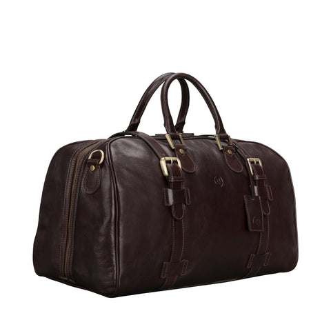 Image 2 of the 'Flero' Dark Brown Veg-Tanned Leather Holdall