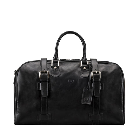Image 1 of the 'Flero' Black Veg-Tanned Leather Holdall