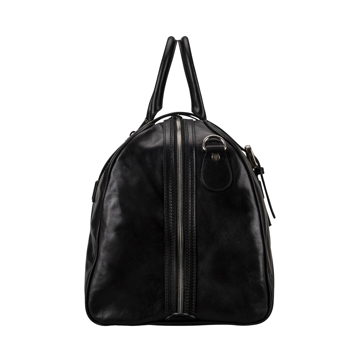 Image 3 of the 'Flero' Black Veg-Tanned Leather Holdall