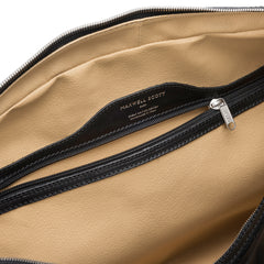 Image 6 of the 'Flero' Black Veg-Tanned Leather Holdall