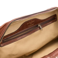 Image 6 of the 'Flero' Compact Chestnut Veg-Tanned Leather Holdall