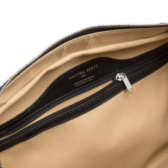 Image 6 of the 'Flero' Compact Black Veg-Tanned Leather Holdall