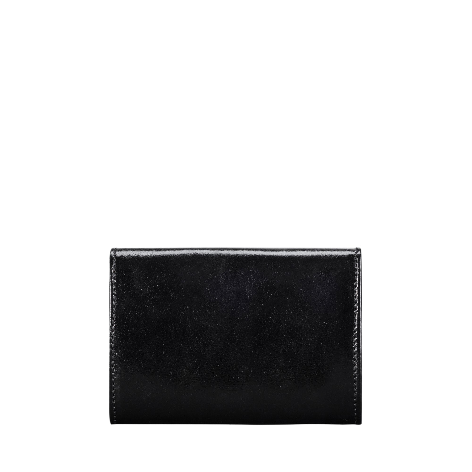 Image 2 of the 'Fontanelle' Compact Black Veg-Tanned Leather Purse
