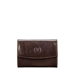 Image 1 of the 'Fontanelle' Compact Brown Veg-Tanned Leather Purse