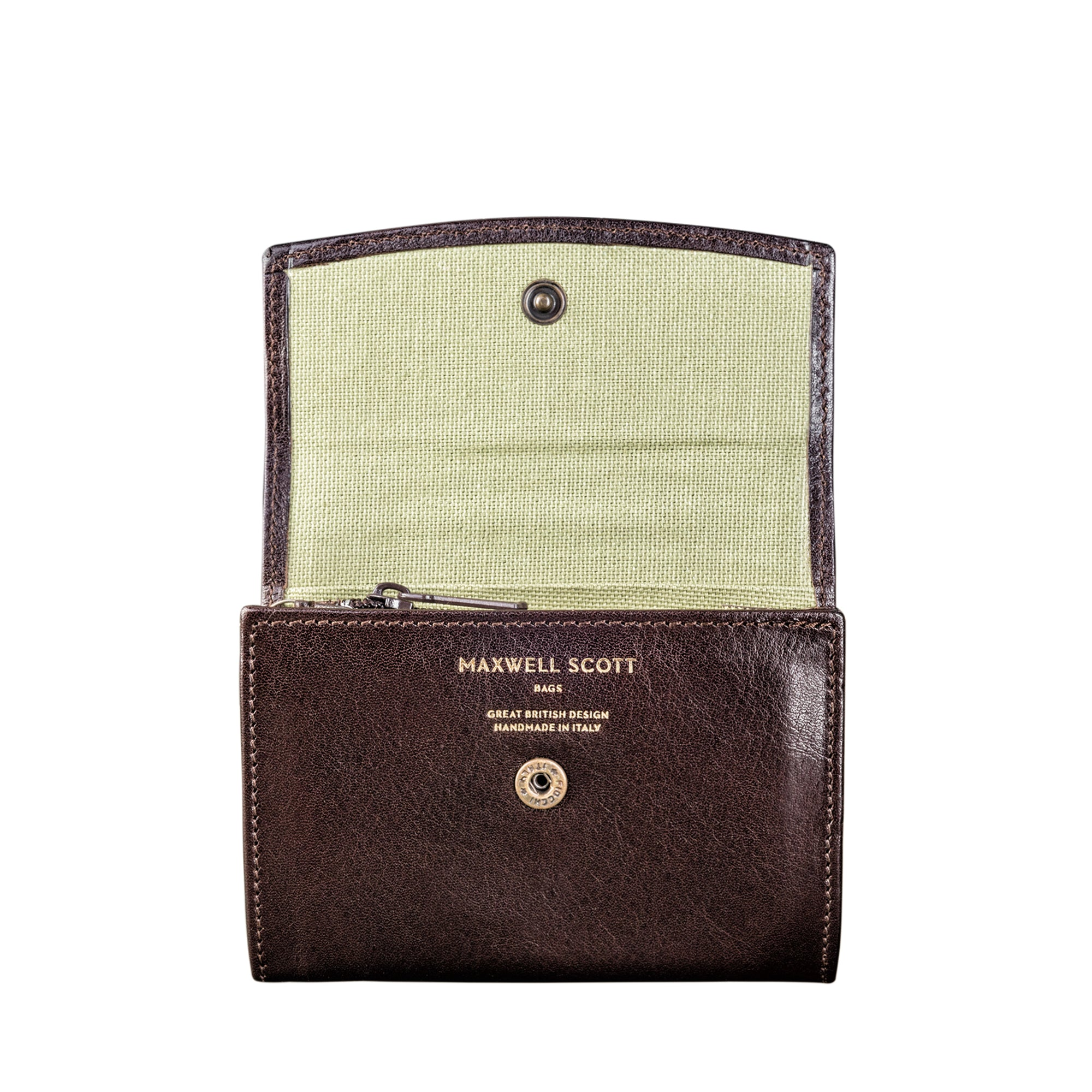 Image 2 of the 'Fontanelle' Compact Brown Veg-Tanned Leather Purse