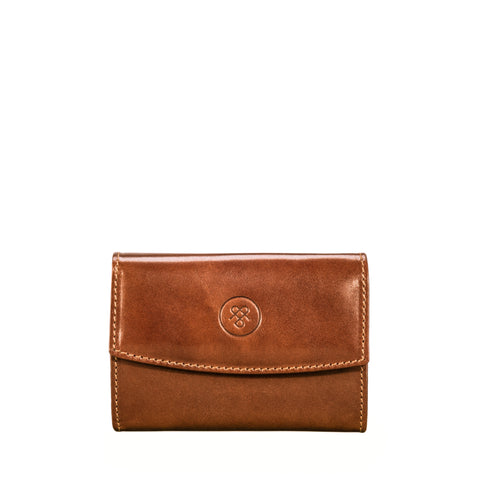 Image 2 of the 'Fontanelle' Compact Chestnut Veg-Tanned Leather Purse