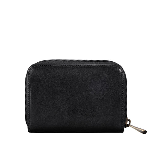 Image 2 of the 'Forino' Black Veg Tanned Leather Zip Purse