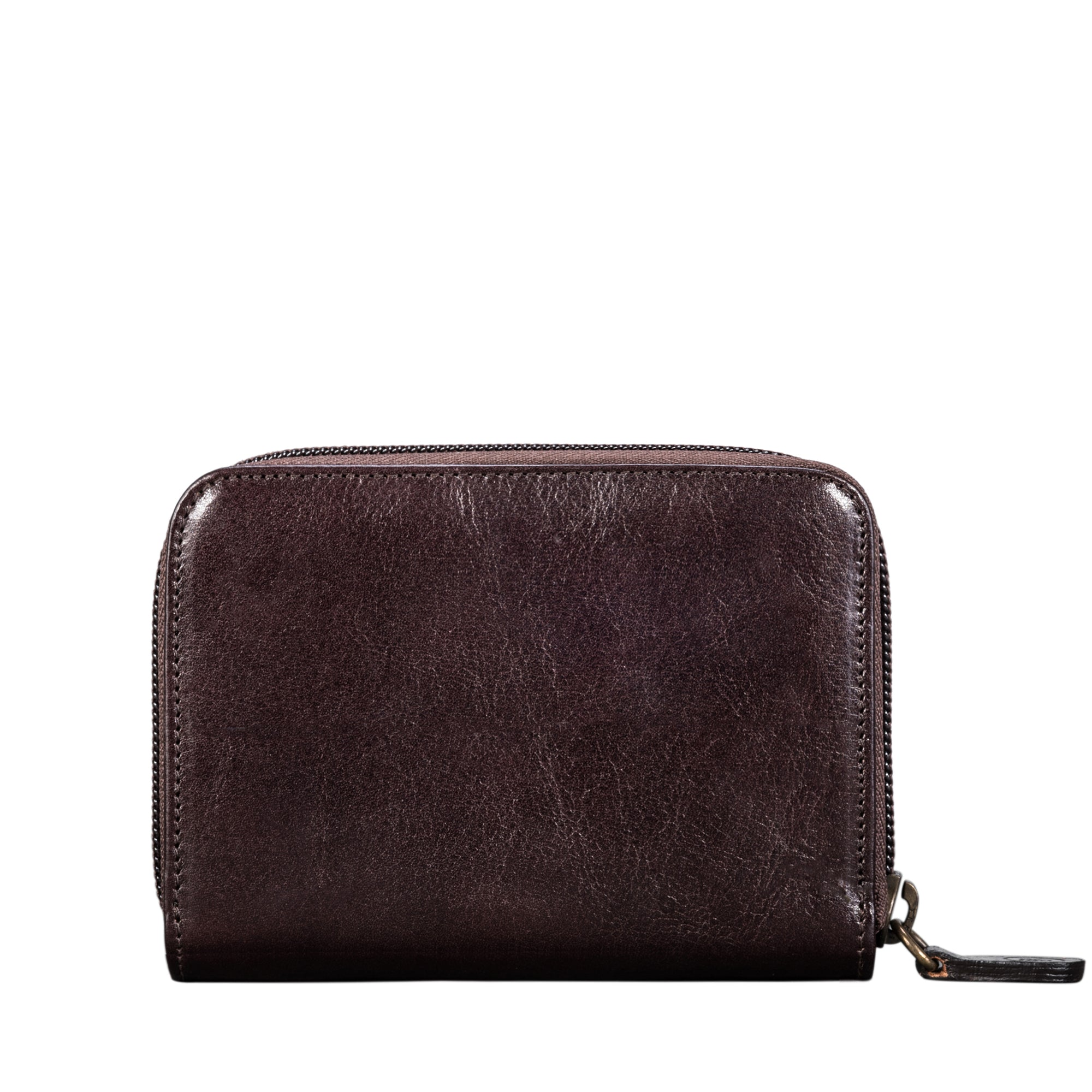 Image 2 of the 'Forino' Dark Chocolate Veg Tanned Leather Zip Purse