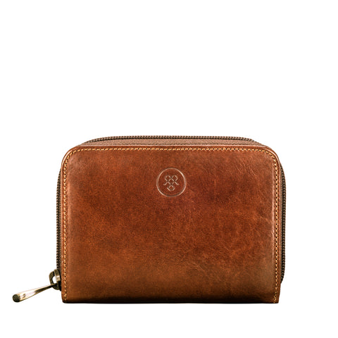 Image 1 of the 'Forino' Chestnut Veg Tanned Leather Zip Purse