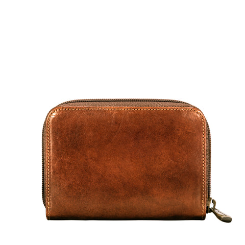 Image 2 of the 'Forino' Chestnut Veg Tanned Leather Zip Purse
