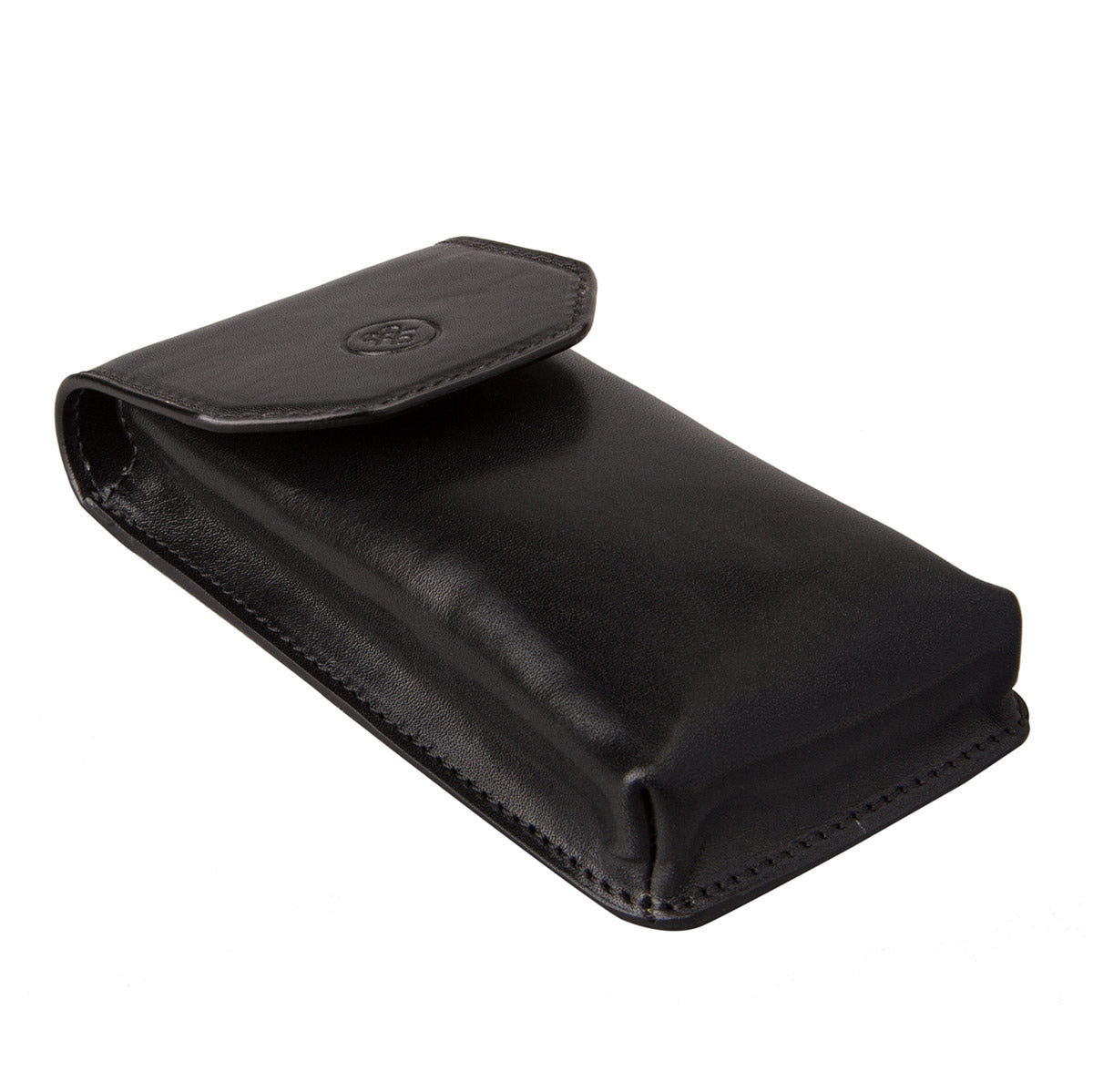 Image 2 of the 'Gabbro' Black Veg-Tanned Leather Glasses Case