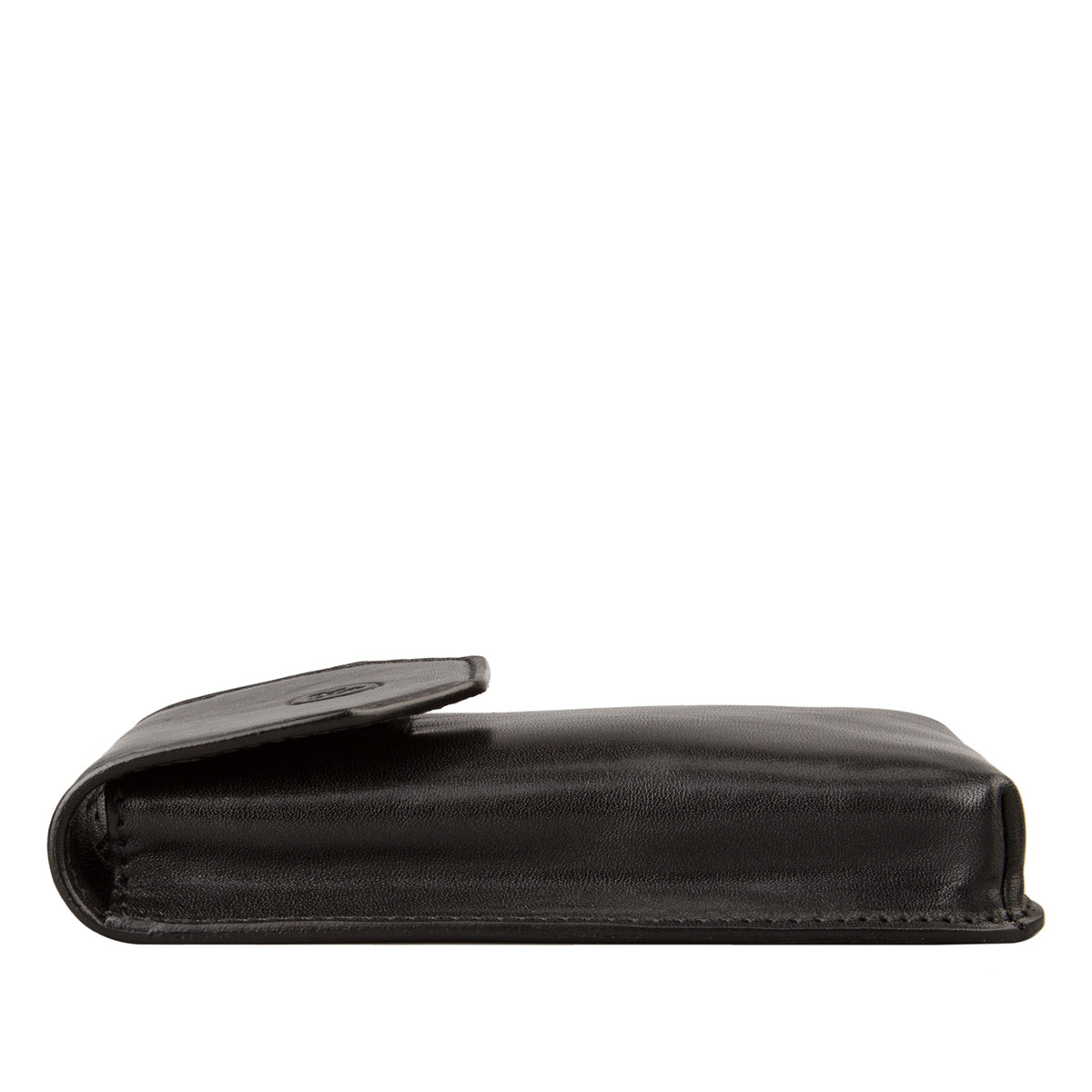 Image 3 of the 'Gabbro' Black Veg-Tanned Leather Glasses Case