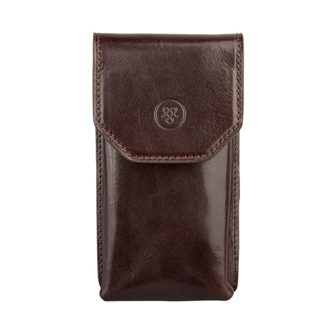 Image 1 of the 'Gabbro' Dark Chocolate Veg-Tanned Leather Glasses Case