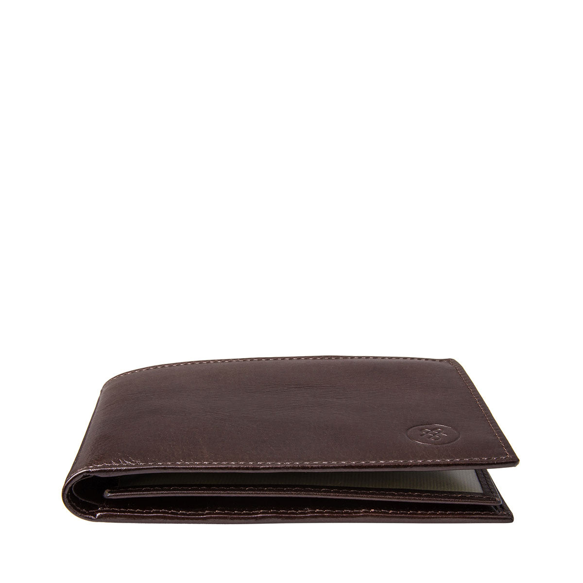 Image 6 of the 'Gallucio' Brown Veg-Tanned Leather Tri Fold Wallet
