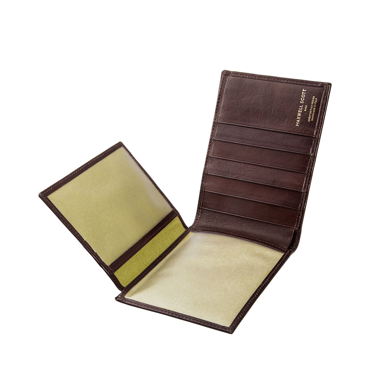 Image 5 of the 'Gallucio' Brown Veg-Tanned Leather Tri Fold Wallet