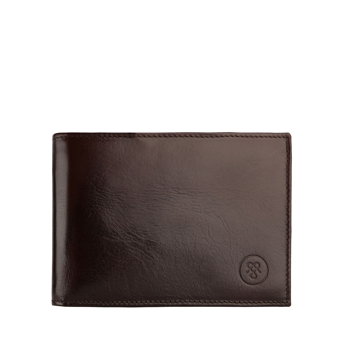 Image 1 of the 'Gallucio' Brown Veg-Tanned Leather Tri Fold Wallet