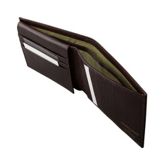 Image 4 of the 'Gallucio' Brown Veg-Tanned Leather Tri Fold Wallet