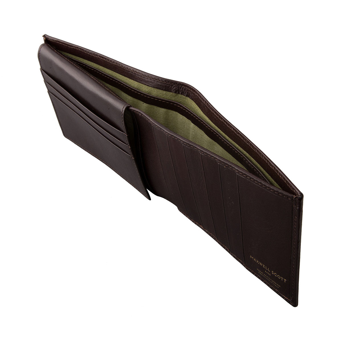 Image 3 of the 'Gallucio' Brown Veg-Tanned Leather Tri Fold Wallet