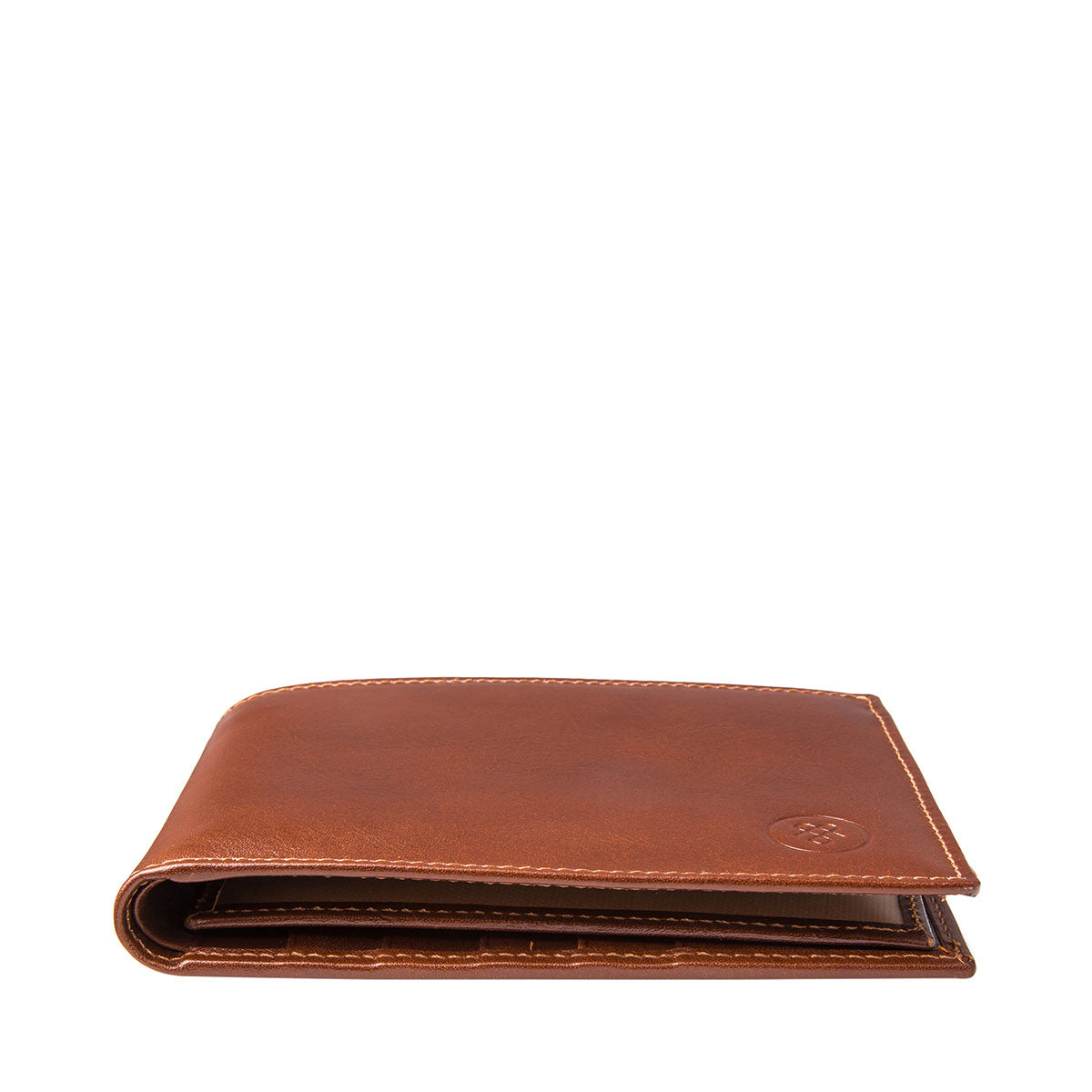 Image 6 of the 'Gallucio' Chestnut Veg-Tanned Leather Tri Fold Credit Card Wallet