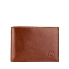 Image 1 of the 'Gallucio' Chestnut Veg-Tanned Leather Tri Fold Credit Card Wallet