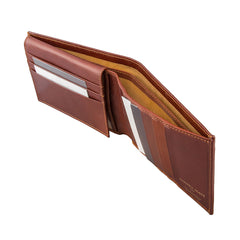 Image 5 of the 'Gallucio' Chestnut Veg-Tanned Leather Tri Fold Credit Card Wallet