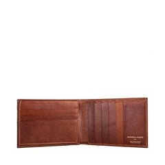 Image 2 of the 'Gallucio' Chestnut Veg-Tanned Leather Tri Fold Credit Card Wallet
