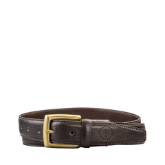 Image 2 of the 'Gianni' Dark Chocolate Veg-Tanned Leather Handmade Belt