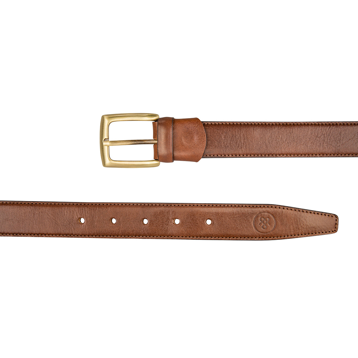 Image 3 of the 'Gianni' Chestnut Veg-Tanned Leather Handmade Belt