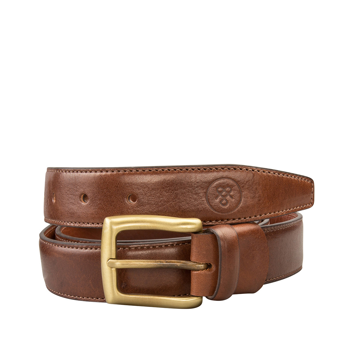 Image 1 of the 'Gianni' Chestnut Veg-Tanned Leather Handmade Belt