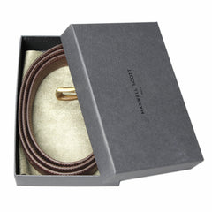 Image 4 of the 'Gianni' Chestnut Veg-Tanned Leather Handmade Belt