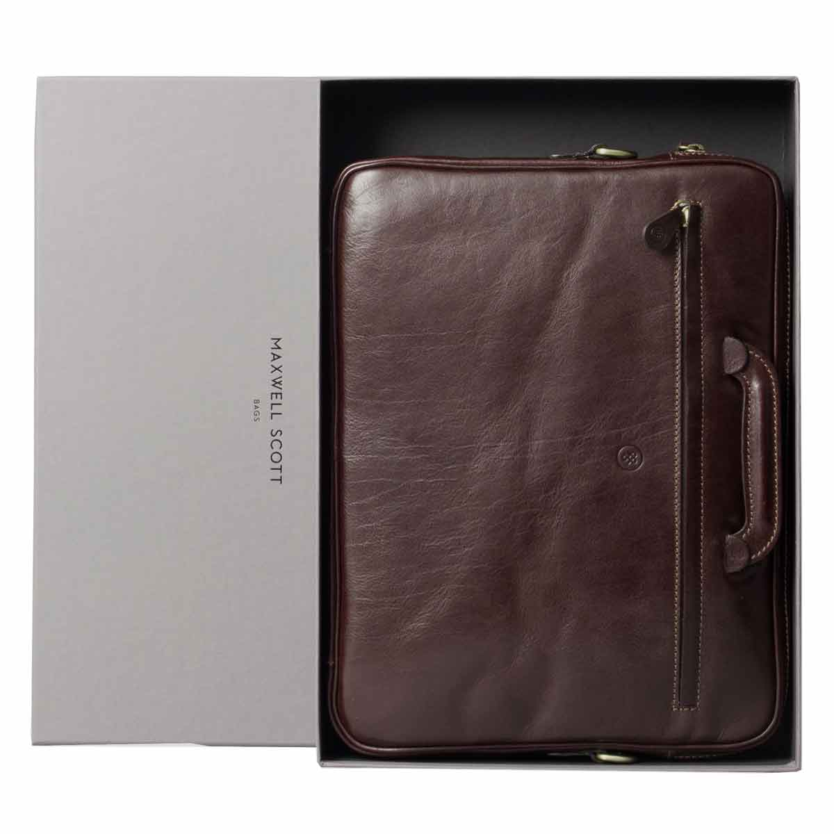 Image 7 of the 'Tutti' Dark Chocolate Veg-Tanned Leather Document Folio
