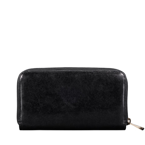 Image 2 of the Large 'Giorgia' Black Veg-Tanned Leather Zip Purse