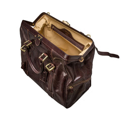 Image 5 of the 'Gassano L' Dark Chocolate Veg-Tanned Leather Holdall