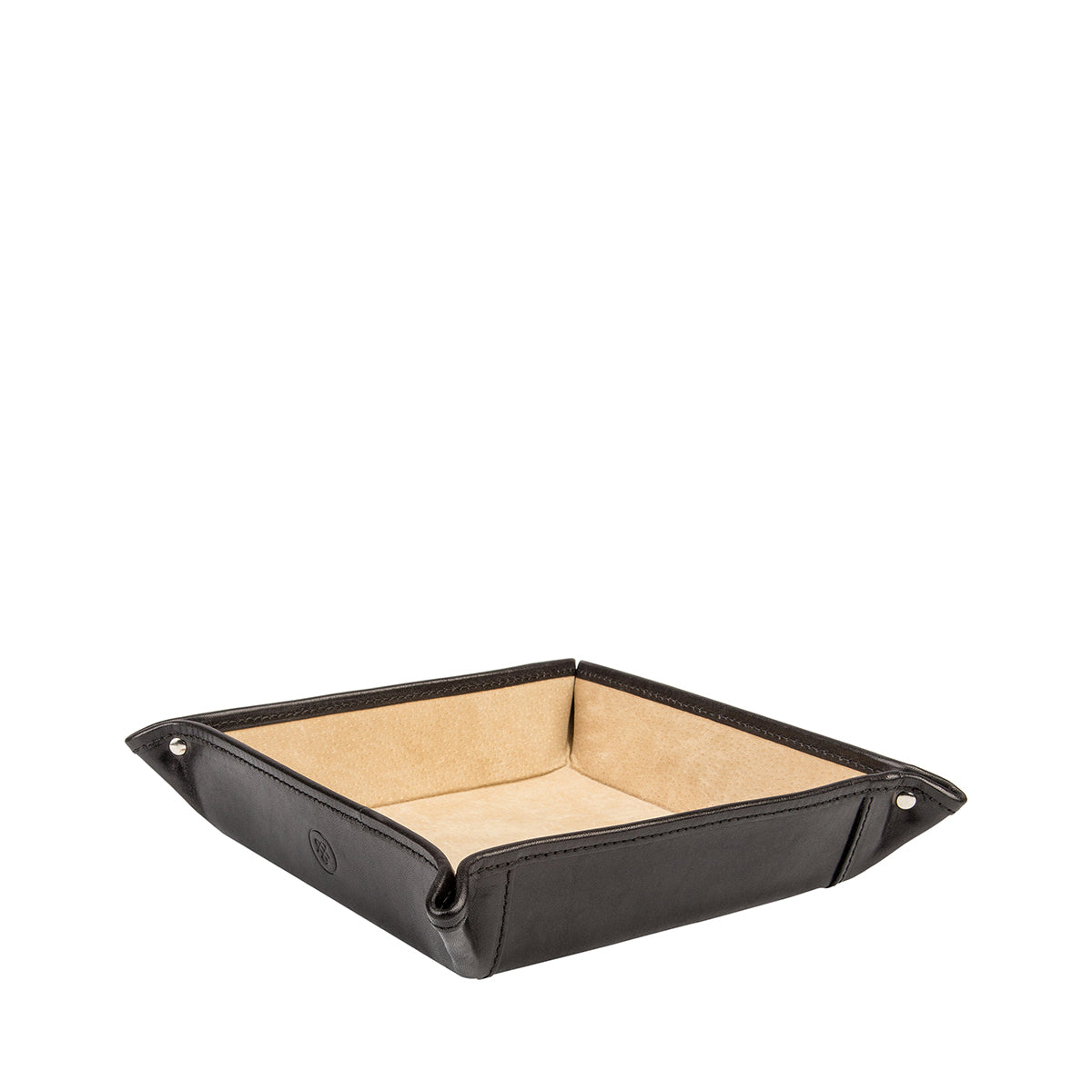 Image 1 of the 'Ilario' Black Leather Tidy Tray