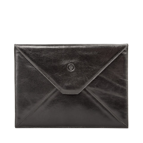 Image 1 of the 'Pico' Black Veg-Tanned Leather Mini Tablet Case