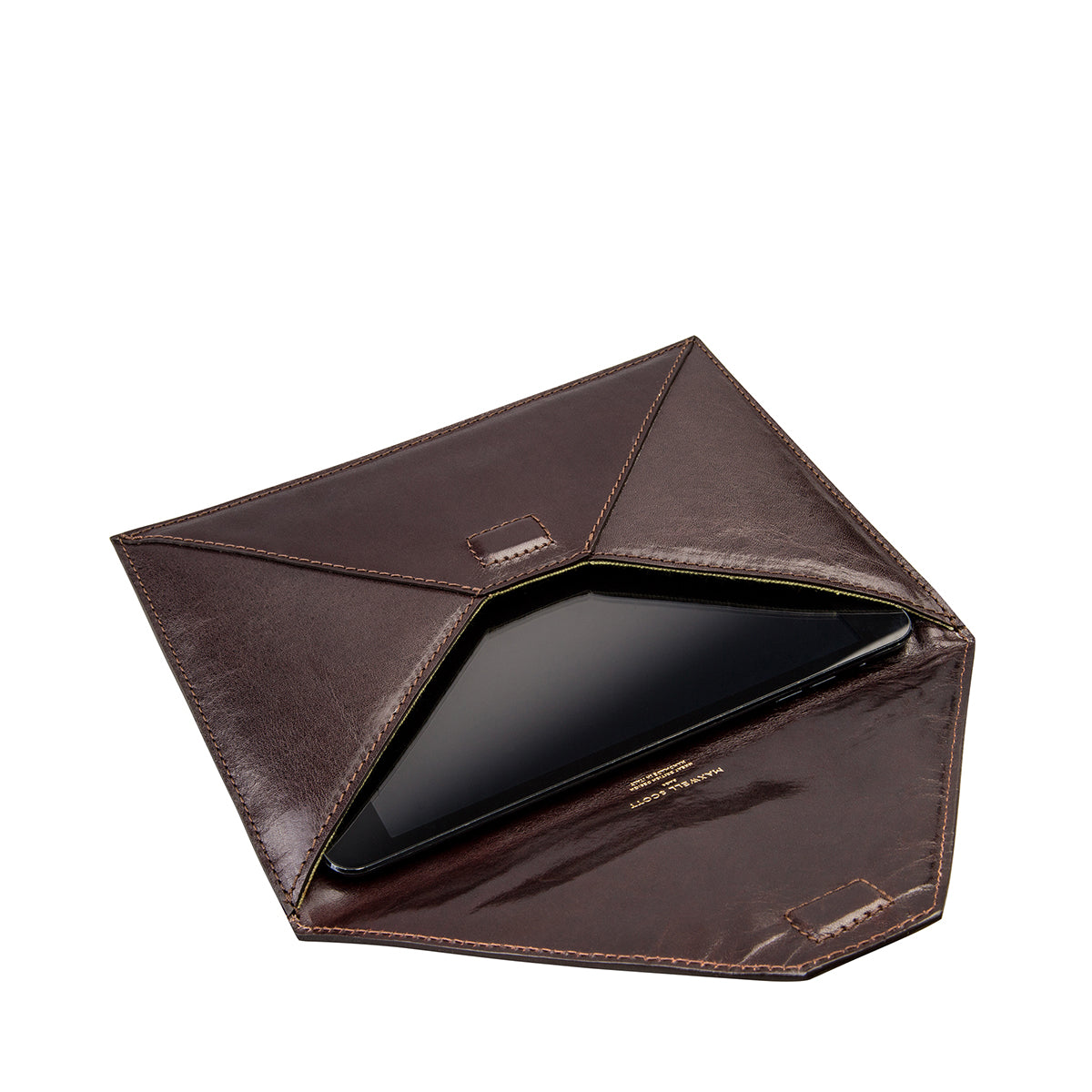 Image 4 of the 'Pico' Dark Chocolate Veg-Tanned Leather Mini Tablet Case