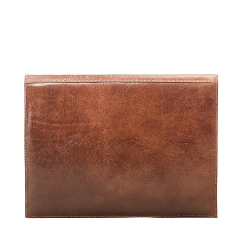 Image 2 of the 'Pico' Chestnut Veg-Tanned Leather Mini Tablet Case