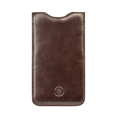 Image 1 of the 'Dosolo' Chocolate Veg-Tanned Leather iPhone 6+ Size Case