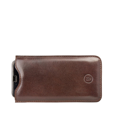 Image 2 of the 'Dosolo' Chocolate Veg-Tanned Leather iPhone 6+ Size Case