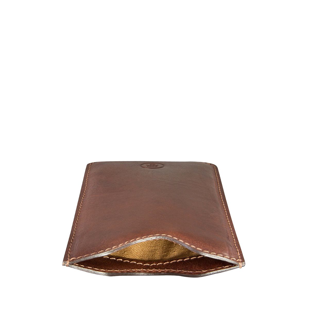 Image 2 of the 'Dosolo' Chestnut Veg-Tanned Leather iPhone 6+ Size Case
