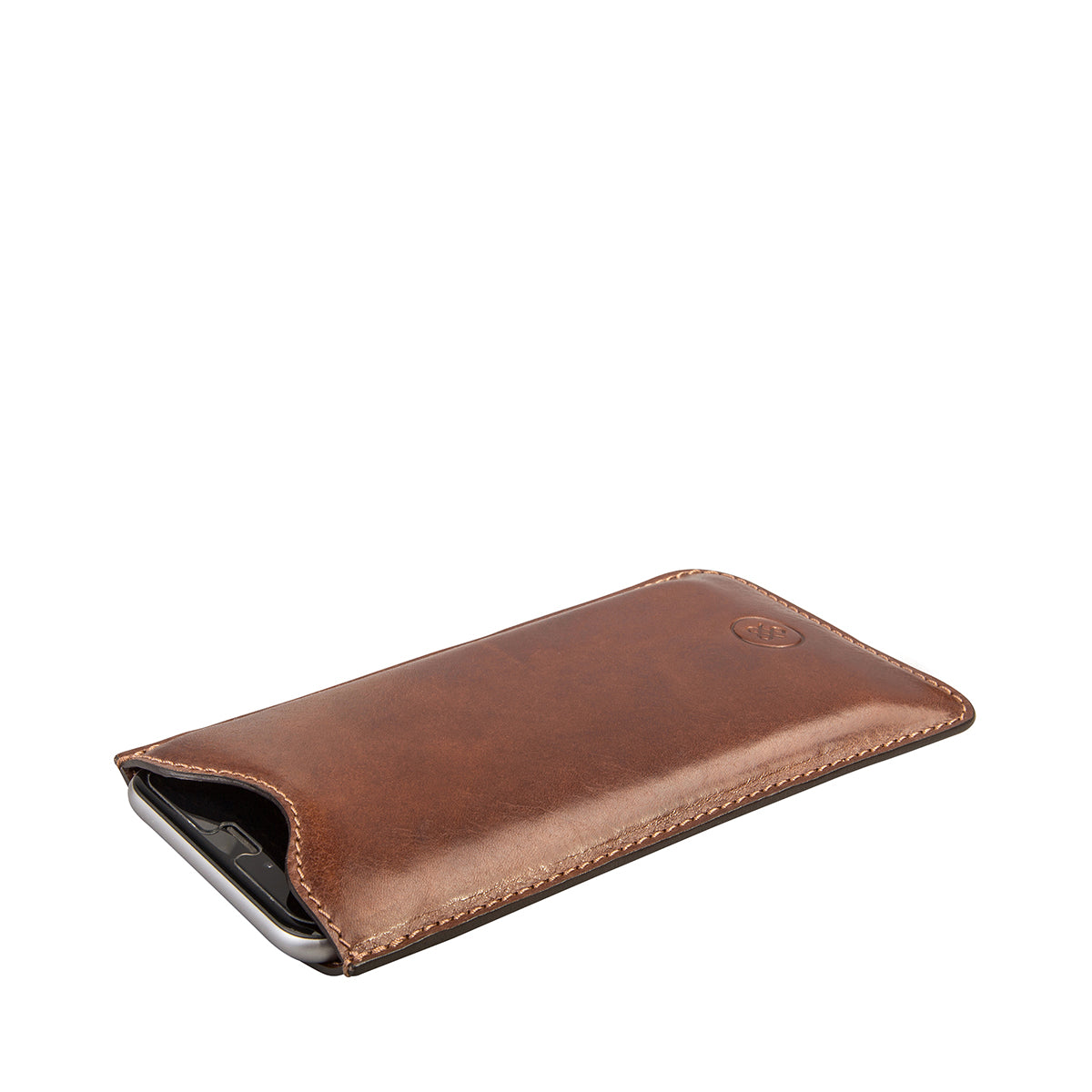 Image 3 of the 'Dosolo' Chestnut Veg-Tanned Leather iPhone 6+ Size Case