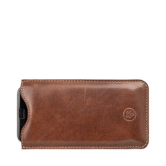 Image 1 of the 'Dosolo' Chestnut Veg-Tanned Leather iPhone 6+ Size Case