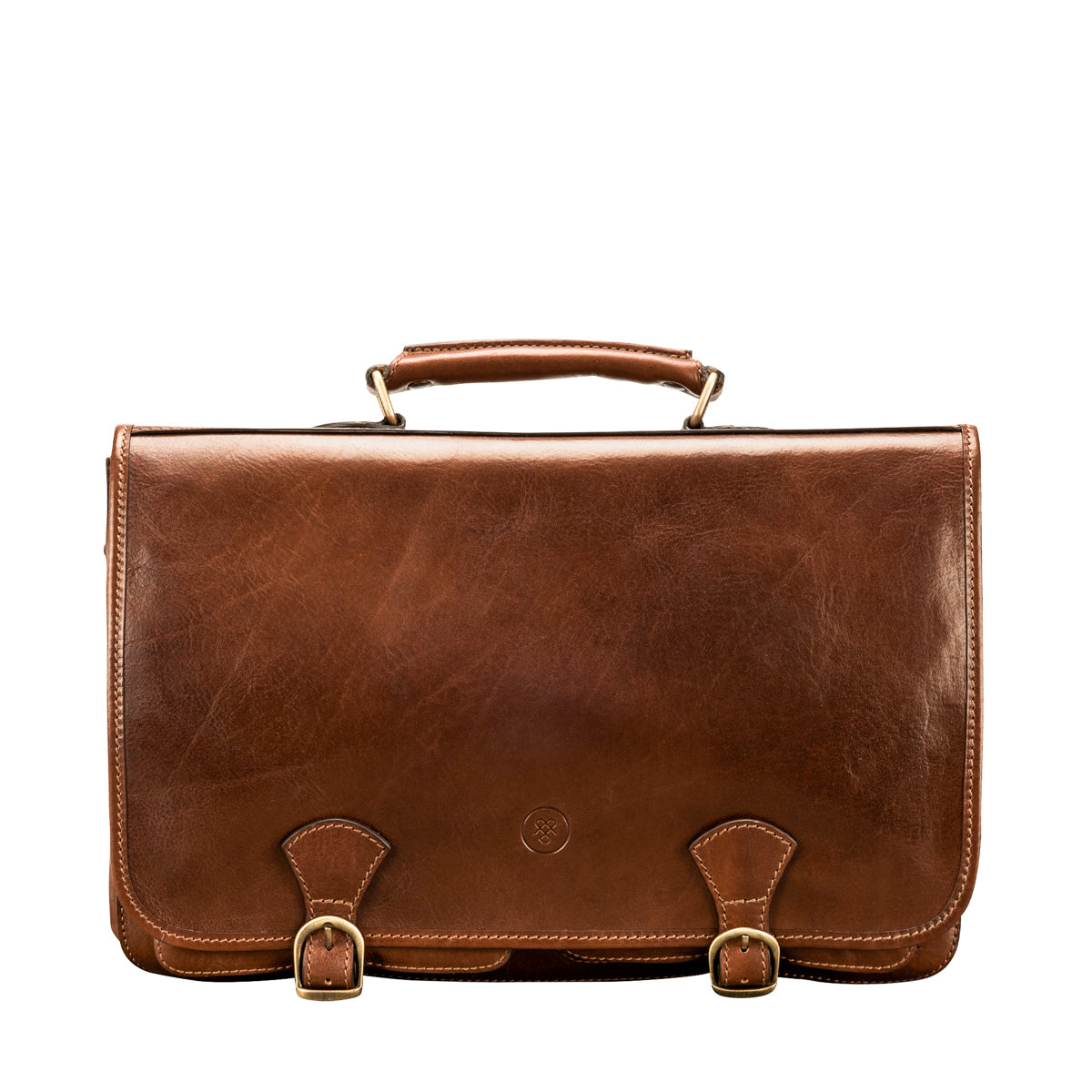 Image 1 of the 'Jesolo Due' Chestnut Veg-Tanned Leather Satchel