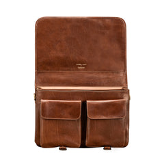Image 5 of the 'Jesolo Due' Chestnut Veg-Tanned Leather Satchel