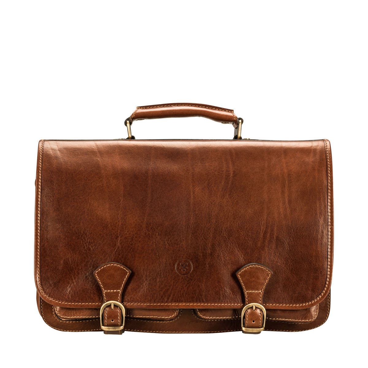 Image 1 of the 'Jesolo Tre' Chestnut Veg-Tanned Leather Satchel