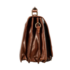 Image 3 of the 'Jesolo Tre' Chestnut Veg-Tanned Leather Satchel