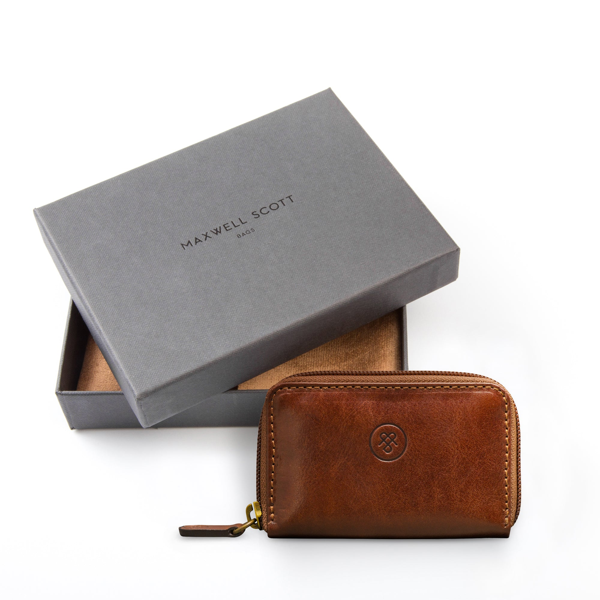 Image 5 of the 'Vinci' Chestnut Veg-Tanned Leather Key Wallet