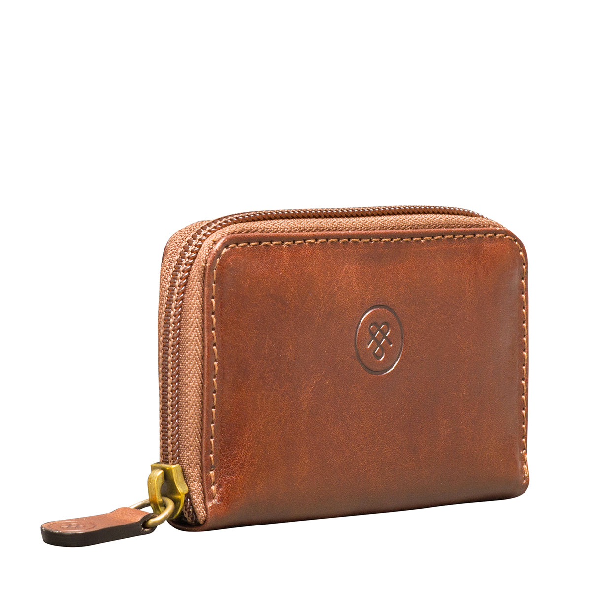 Image 2 of the 'Vinci' Chestnut Veg-Tanned Leather Key Wallet