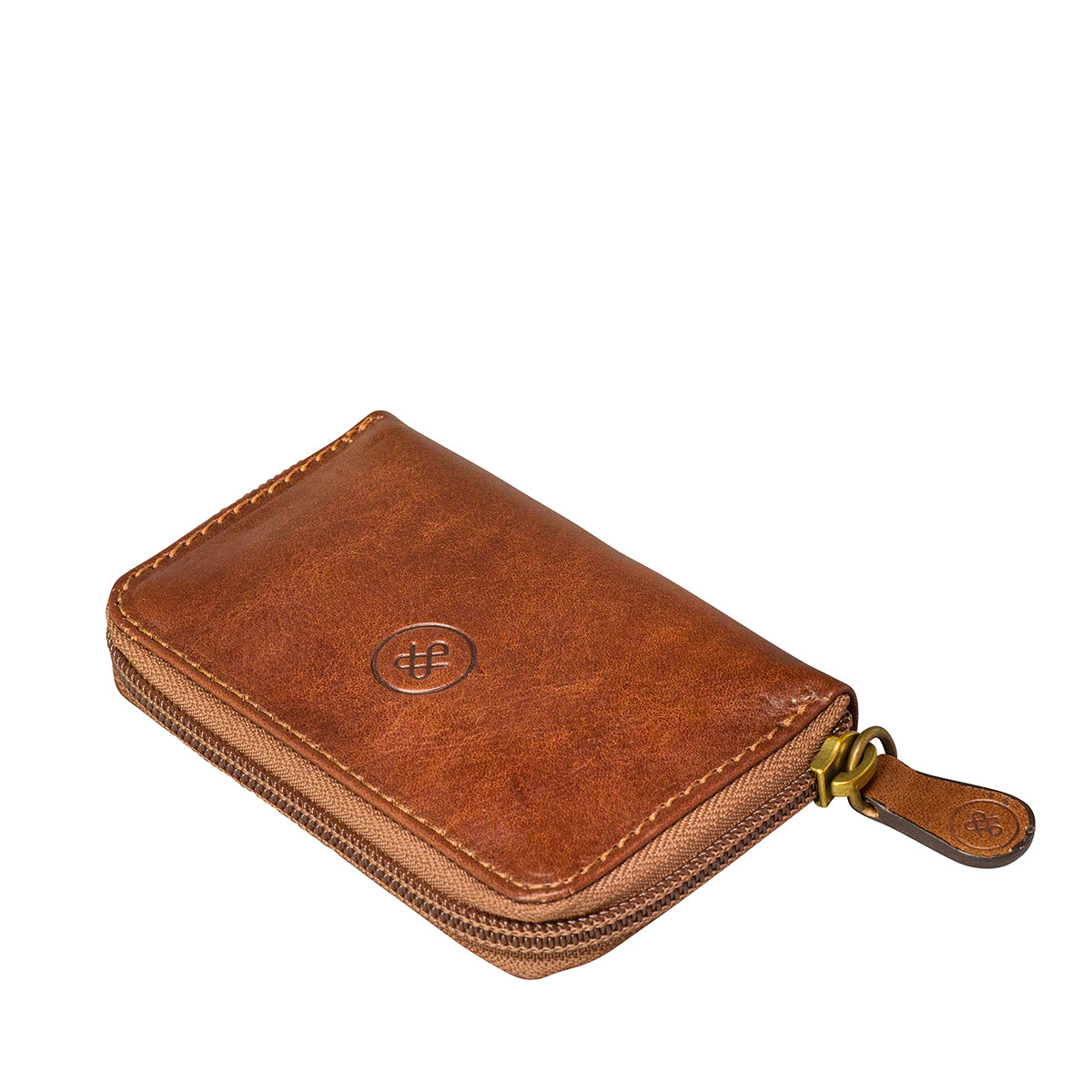 Image 3 of the 'Vinci' Chestnut Veg-Tanned Leather Key Wallet